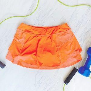 Athleta Bustle Skort in Ember Orange